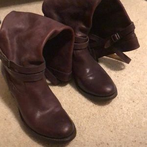 Frye Jane strappy boot.  7 1/2. Brown